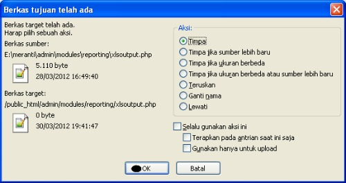 Timpa Saja File Yang Sama