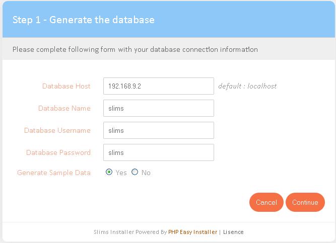 Isi Database Host, Database Name, B, Database User , Paswod
