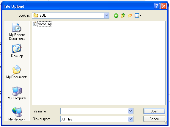 Browse file SQL tadi
