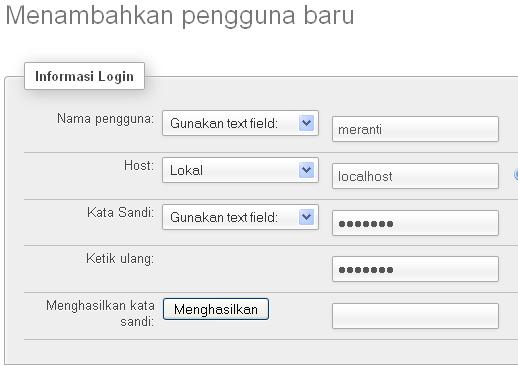 Isi Form Userdatabase