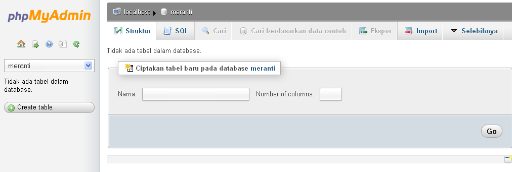 Database Masih Kosong