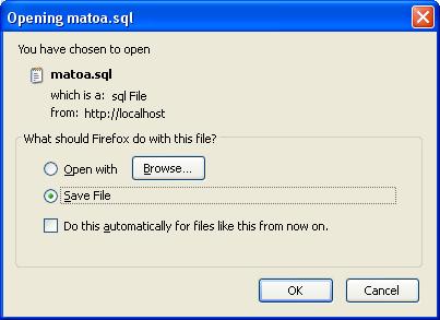 Opening matoa sql , OK