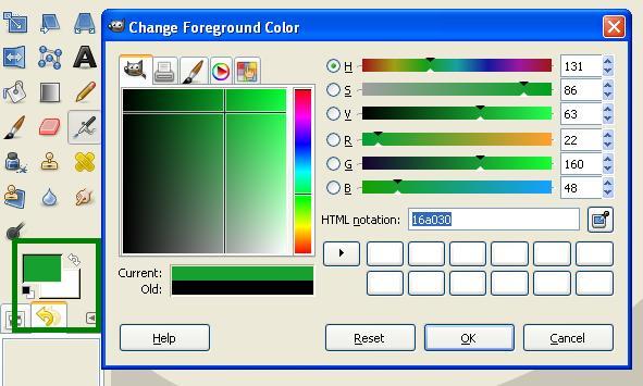 Bantuan Kode warna GiMP