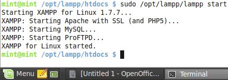 sudo /opt/lampp/lampp/start