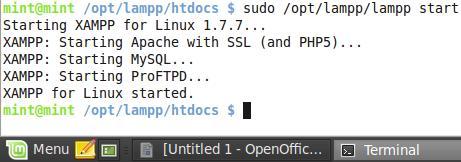 sudo /opt/lampp/lampp/start